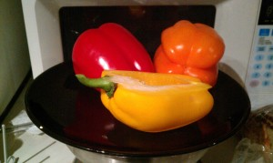 100 calories of peppers