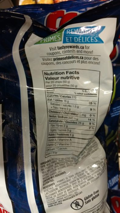 How to read junk food nutrition labels